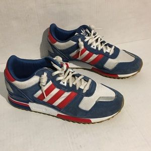 Adidas Red White and Blue 3 Stripe sneaker